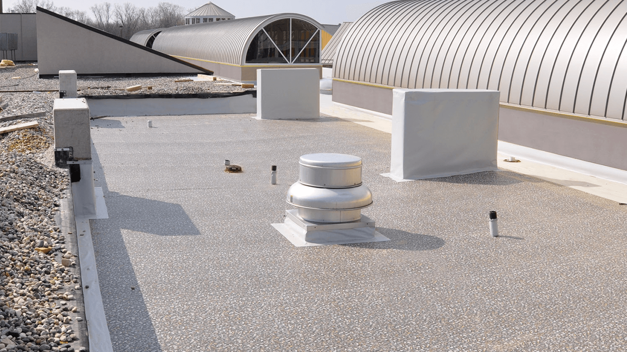 Ballasted Shingle Ply Amp Vinyl Rib Roofing System Duro