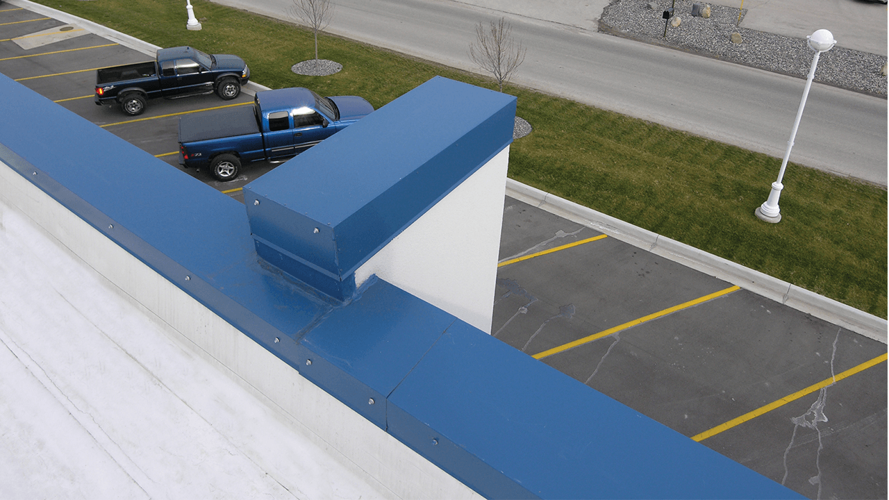 Blue Metal Roof Edge