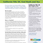 California Title 24 Fact Sheet for Roofing Contractors